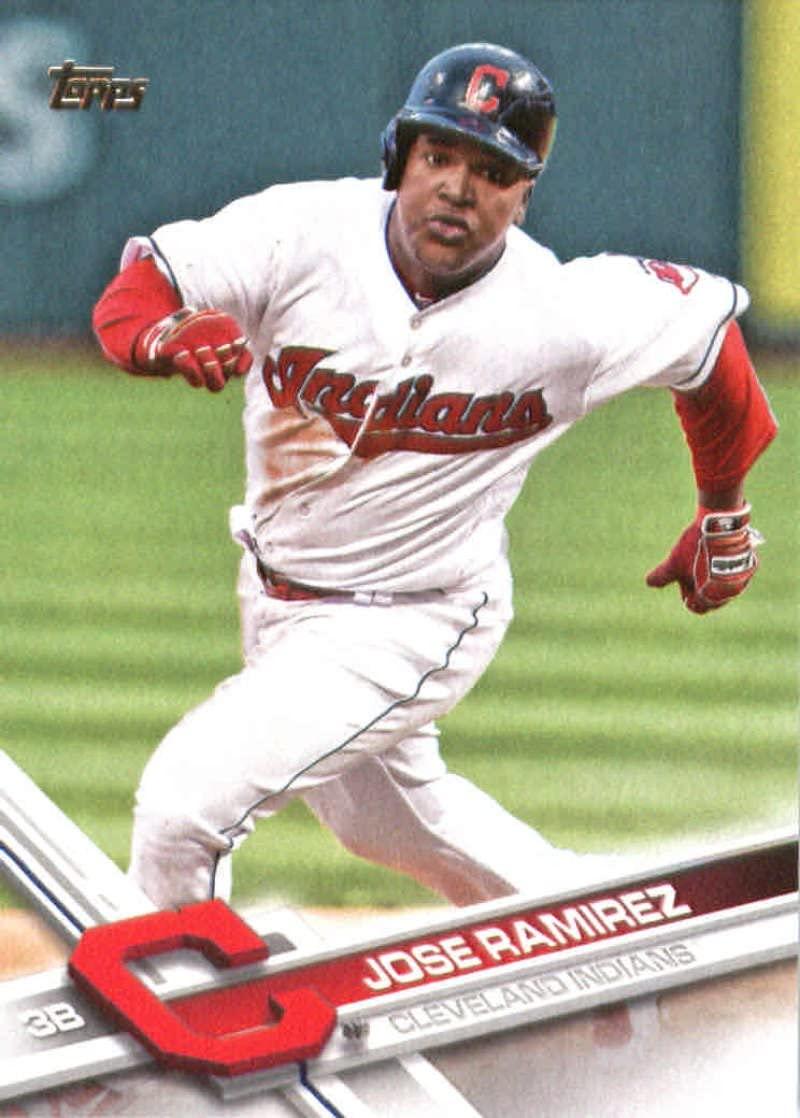 2017 Topps Series 2 #487 Jose Ramirez Cleveland Indians Baseball Card