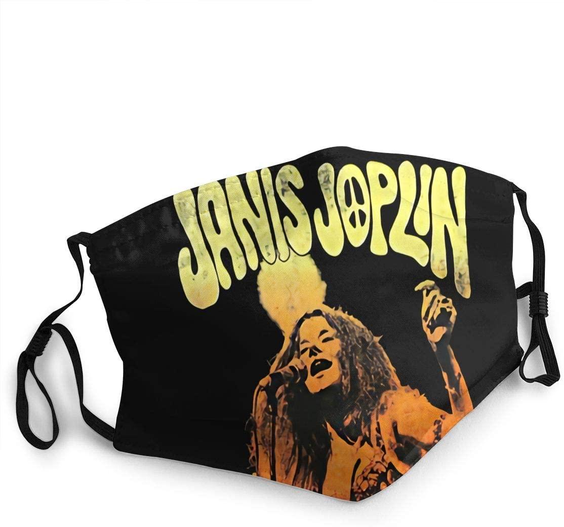 Hkany Fashionable Protection, Janis Joplin Neutral Black Dustproof Cotton, Windproof and Dustproof. Anti-Pollution.