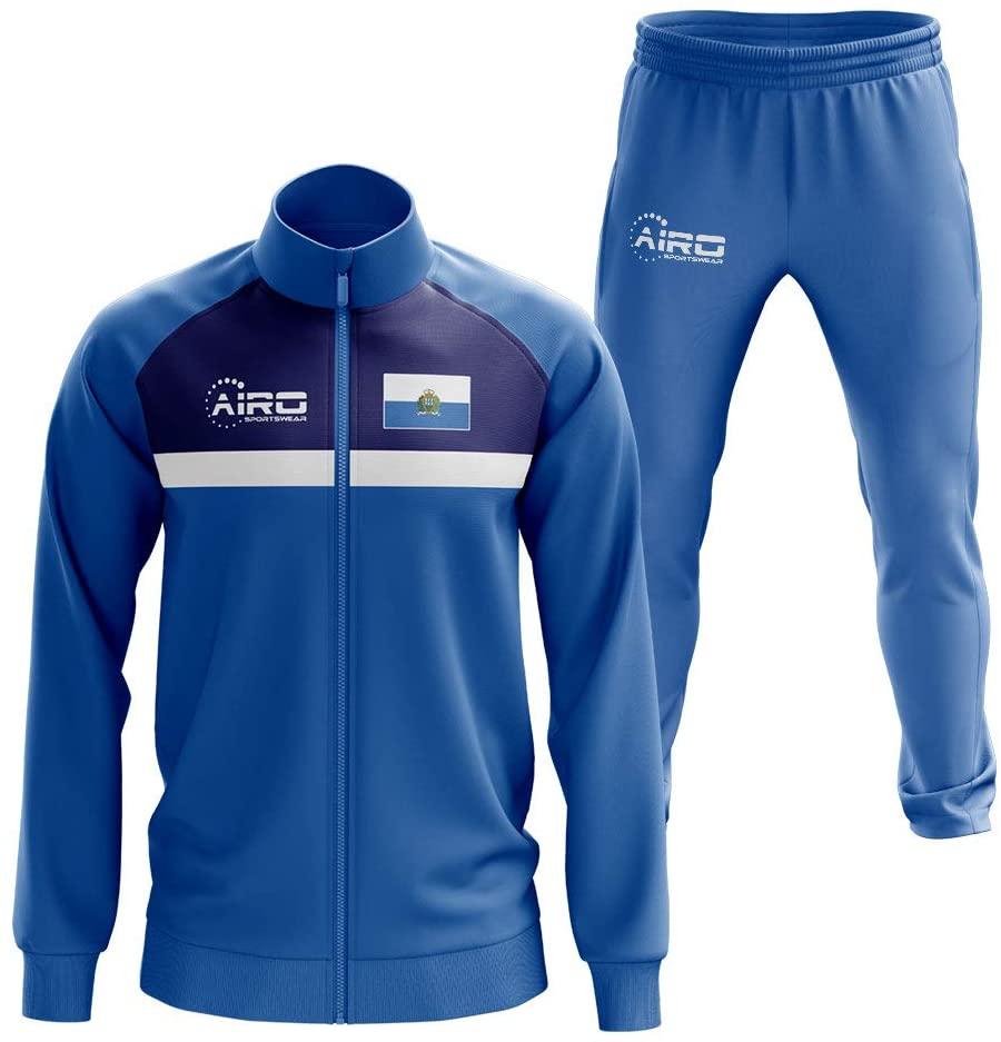 Airosportswear San Marino Concept Football Tracksuit (Blue)
