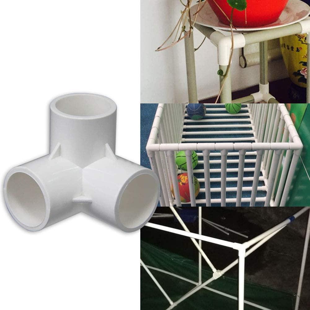 Denpetec 3 Way PVC Fitting - Build Heavy Duty PVC Furniture - PVC Elbow Fittings