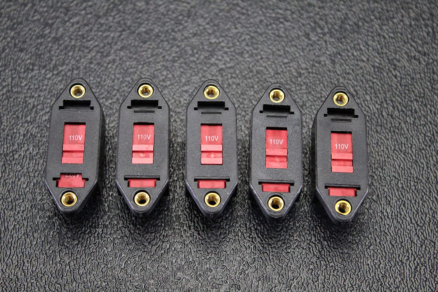 5 PCS Voltage Switch 110V/220V 8 AMP 250V 6 PIN Toggle Rocker ON Off VS-1122