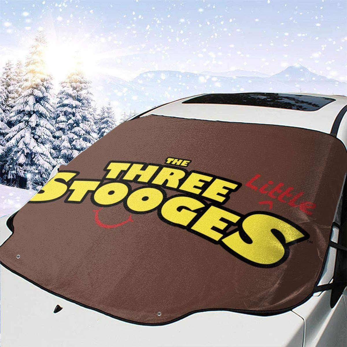 Zhengyu Three Stooges Car Front Windshield Cover Durable,Suitable for All Seasons