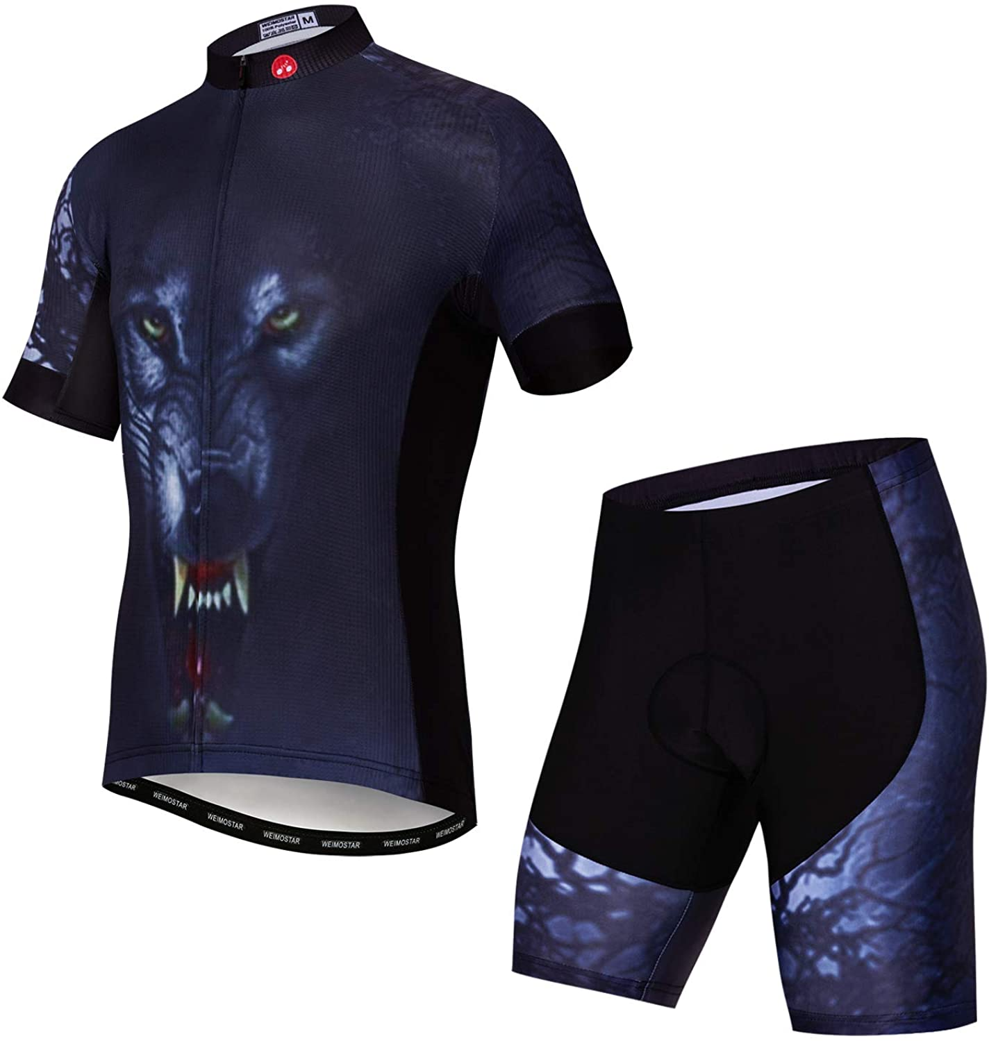 JPOJPO Cycling Jersey for Men Pro Team Bicycle Clothing MTB Bike Jerseys Shorts Set