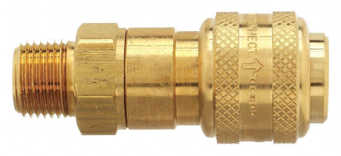 Dixon Valve & Coupling 3DM2-B Male to Indust. Coupler, (M) NPT, 3/8, Brass