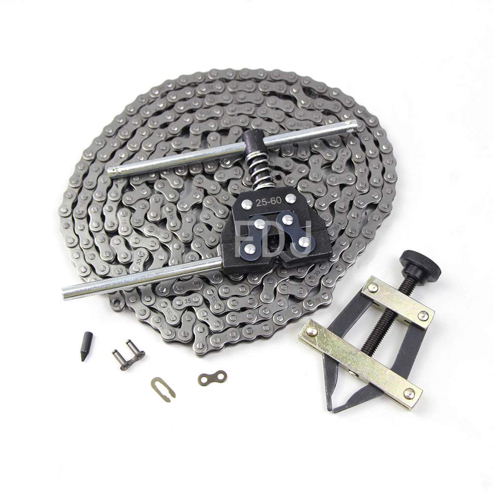 FDJ #35 Roller Chain 10 Feet with Master Links and Chain Breaker Tool Kit