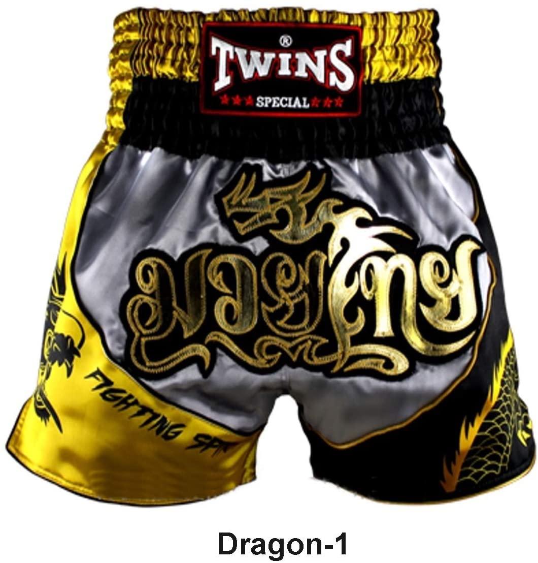Twins Special Muay Thai Boxing Shorts Silver Gold Dragon TBS-Dragon-1 Muay Thai MMA K1