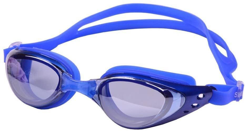Haogo Unisex Mirrored Swim Goggles - Anti Fog UV Protection No Leaking Swimming Glasses for Adult Men Women