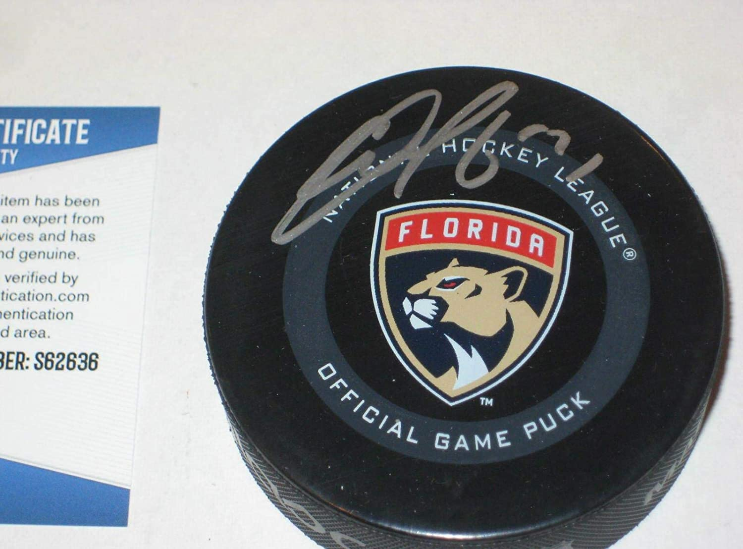 Evgenii Dadonov Signed Puck - Official w Beckett COA - Beckett Authentication - Autographed NHL Pucks