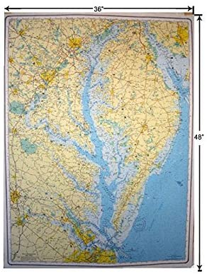 GMCO Chesapeake Bay Rolled Laminated Wall Map