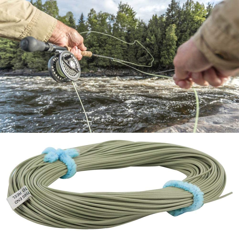 30 Meters Long WF Fly Fishing Line(Fruit Green) Suits Beginners and Expert Durable Ablation Resistance for Fishing in Lake River and Stream