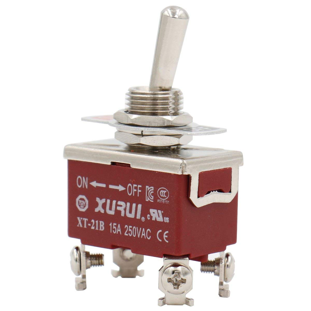 Baomain Toggle Switch DPST ON/Off 2 Position 250VAC 15A 1/2