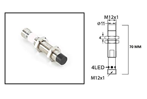 RADWELL VERIFIED SUBSTITUTE XS612B4PAM12-SUB REPLACEMENT OF SCHNEIDER ELECTRIC XS612B4PAM12, N/O OUTPUT, 8MM RANGE, M12 QD, 4-PIN, 12MM THREADED, PNP, CYLINDRICAL UNSHIELDED, PROXIMITY SENSOR - EXTEND