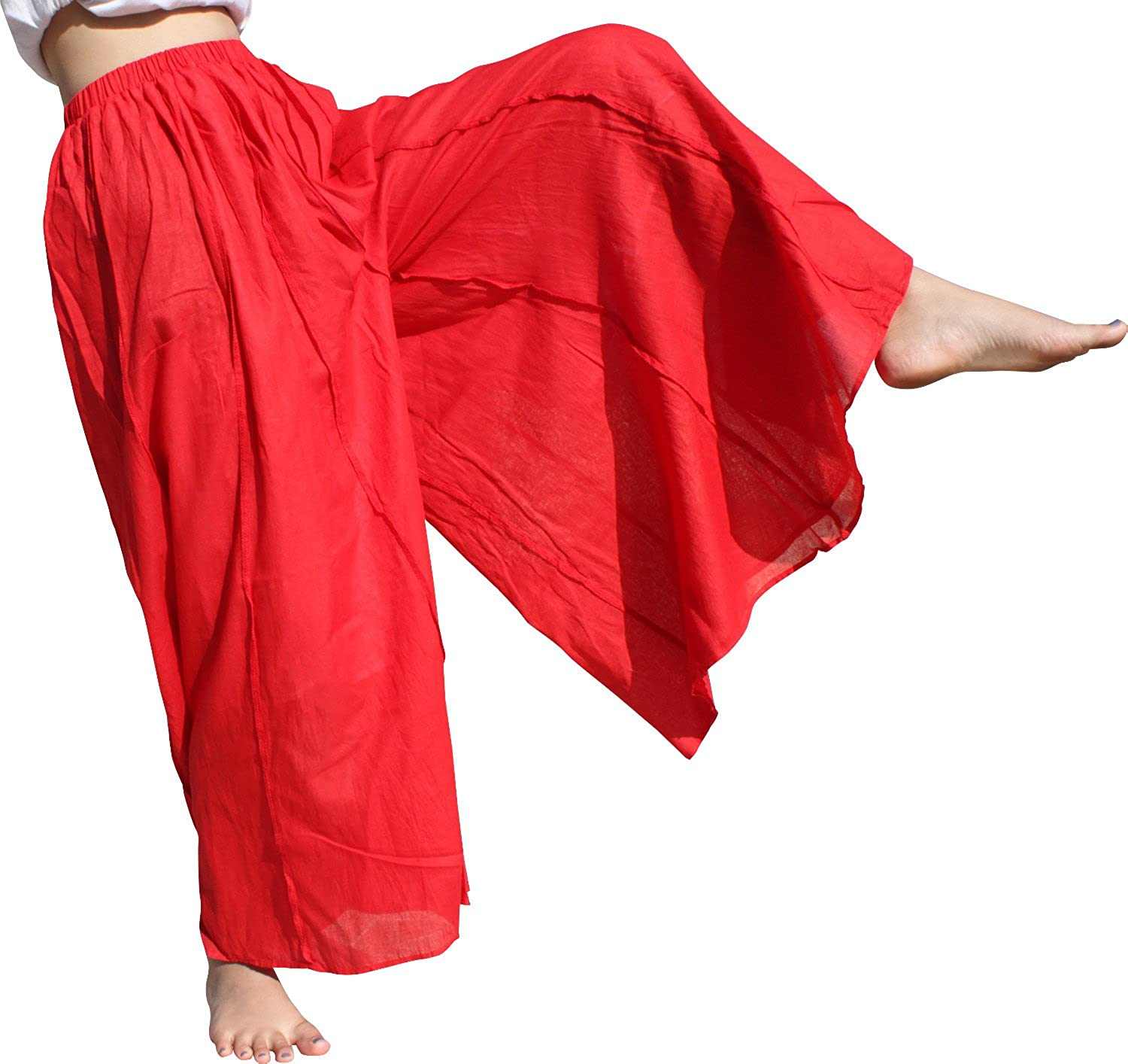 RaanPahMuang Wide Baggy Leg Light Summer Cotton Freedom Pants