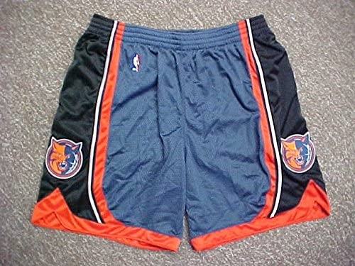 Juwan Howard Charlotte Bobcats Blue Game Worn Shorts