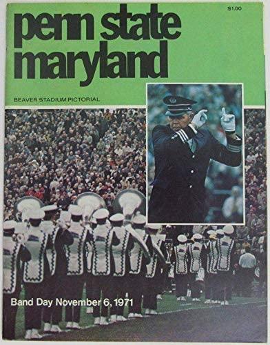 1971 Penn State Nittany Lions vs. Maryland Football Program 137998 - College Programs