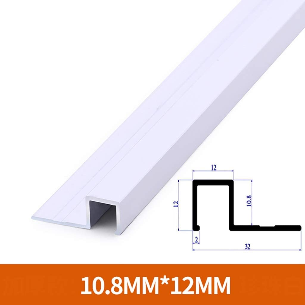 GWXFHT Building Products Aluminum Alloy External Angle Edge Strip - 3 Packs, Non-Slip Thickened Threshold Protection Strip, Wall and Brick Floor Trim Edge Strip, L800MM (Color : B)