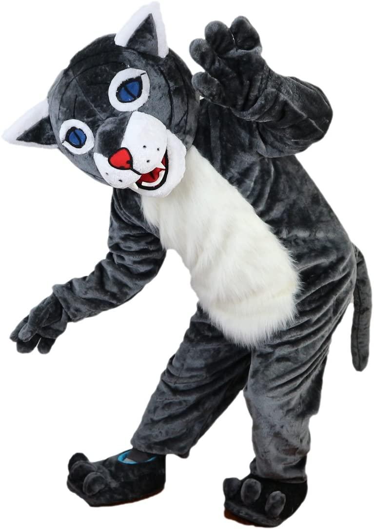 Wildcat Raccoon Mascot Costume Cartoon Character Adult Sz Real Picture