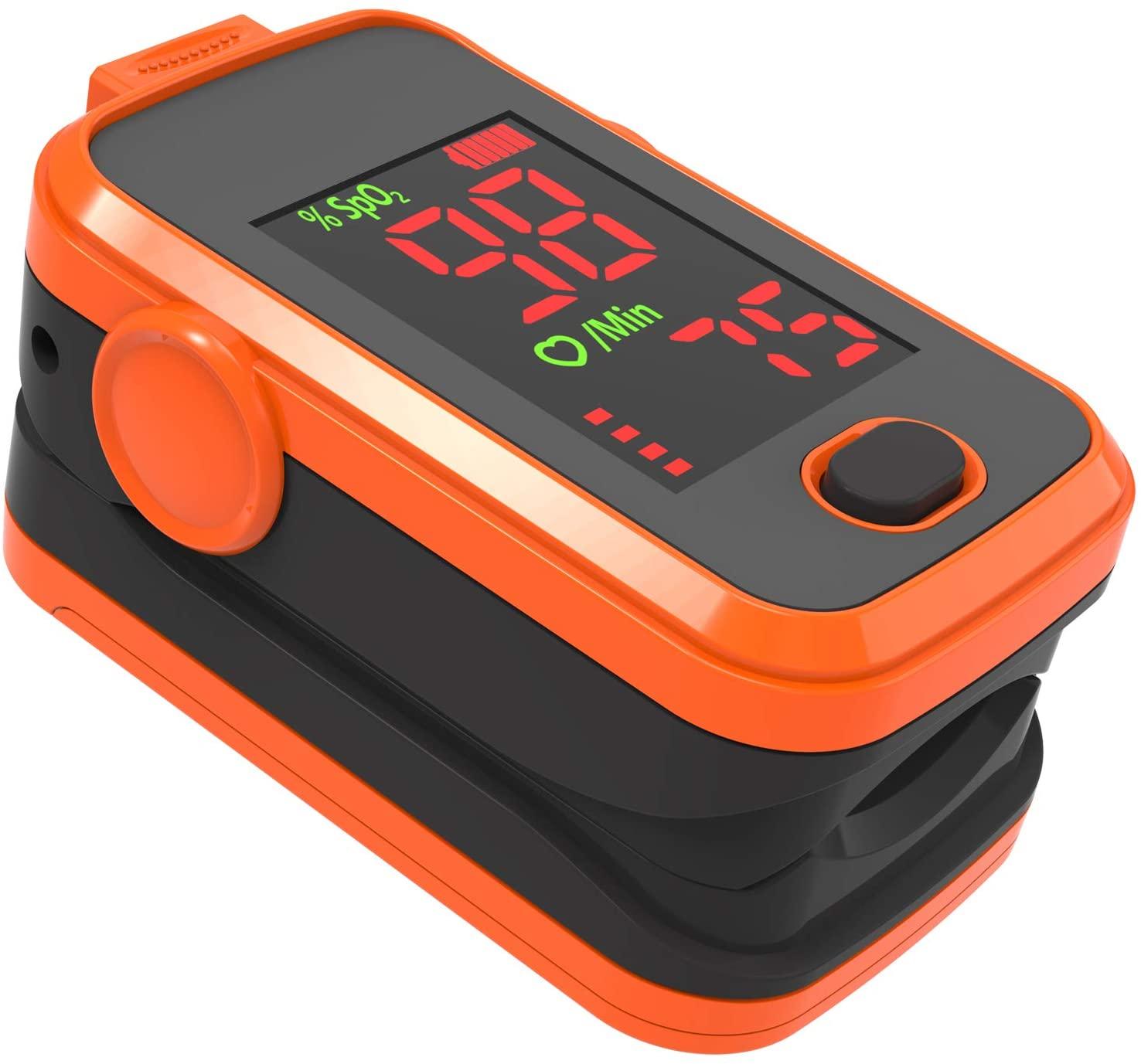 A310L Amemo Fingertip Pulse Oximeter LED Display (Orange)