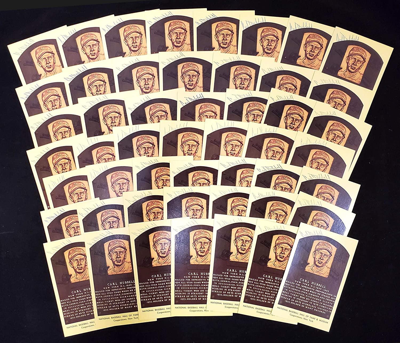 Carl Hubbell Autographed HOF Plaque Postcard New York Giants Lot of 50 SKU #172622 - MLB Cut Signatures