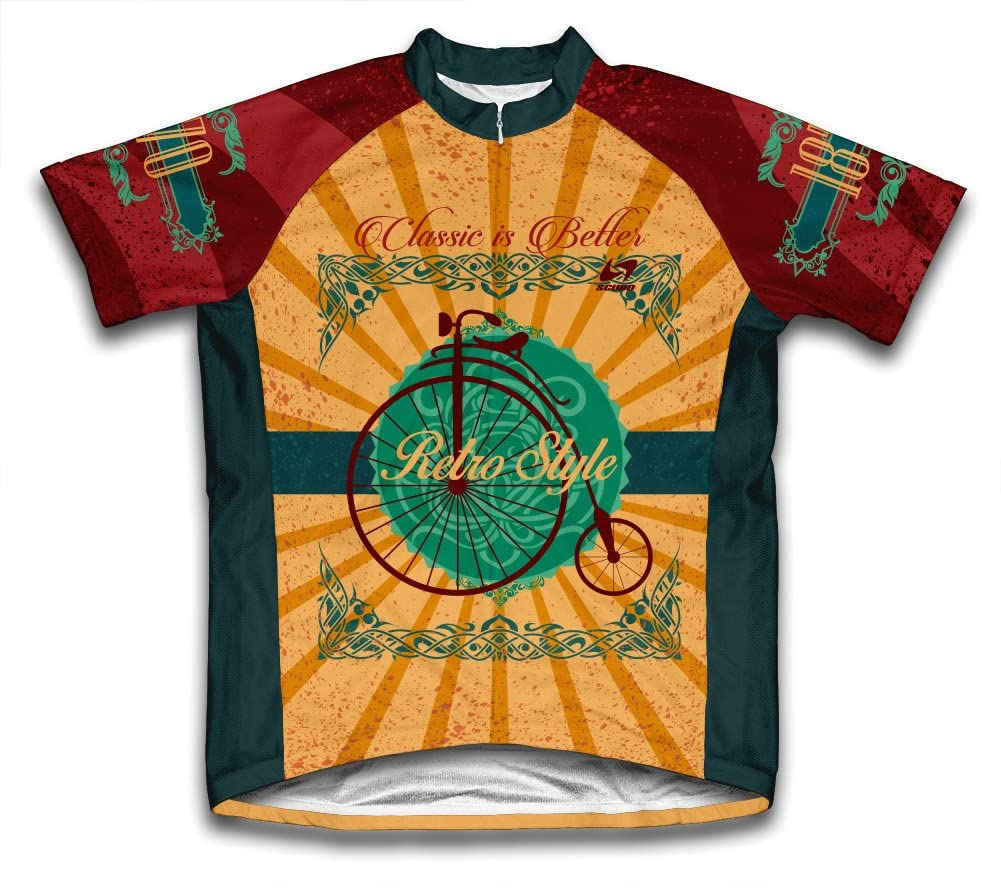ScudoPro Retro Style Short Sleeve Cycling Jersey for Men