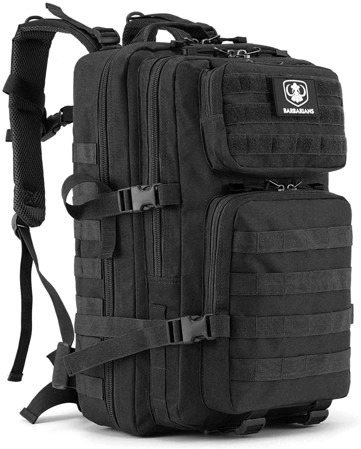 Barbarians Upgraded 35L Tactical Molle Backpack, Military Assault Pack Rucksack for Outdoor Hiking Camping Trekking Hunting