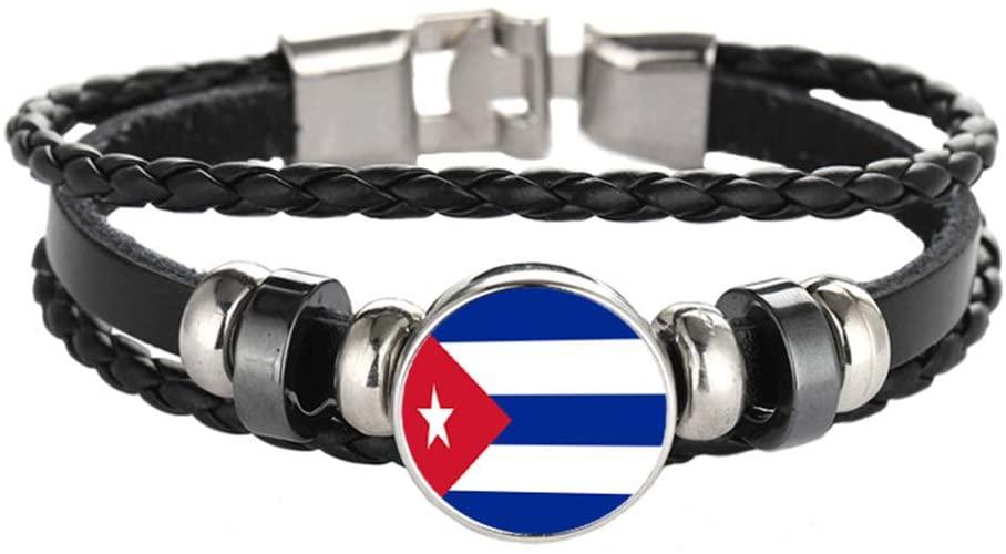 National Flag Style Bracelet Creative Cuba Travel Souvenir Gift Personalized Woven Bracelet Accessories for Men and Women