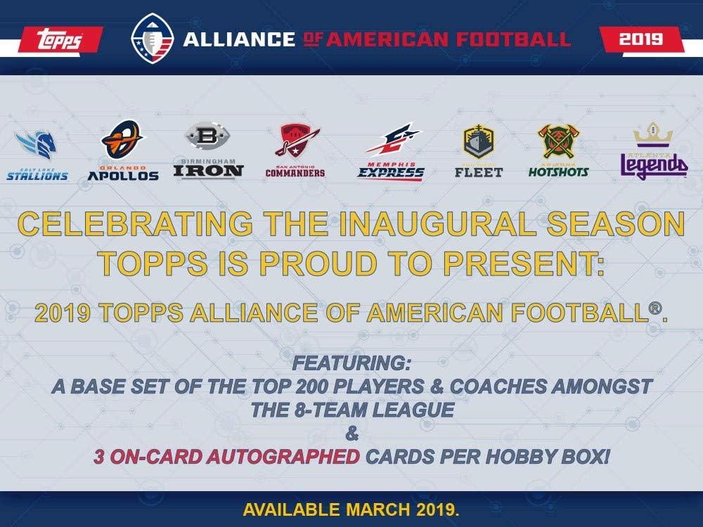 2019 Topps Alliance of American Football Hobby Box