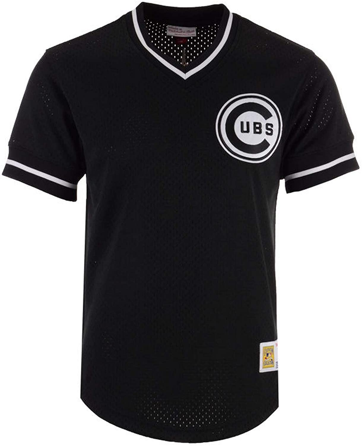 Mitchell & Ness LLC Chicago Cubs V-Neck Mesh Jersey Size 2X-Large 2XL - Black
