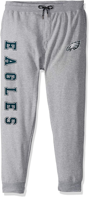 Ultra Game NFL Philadelphia Eagles Mens Jogger Pants Active Basic Fleece Sweatpants, Heather Gray 18, Medium
