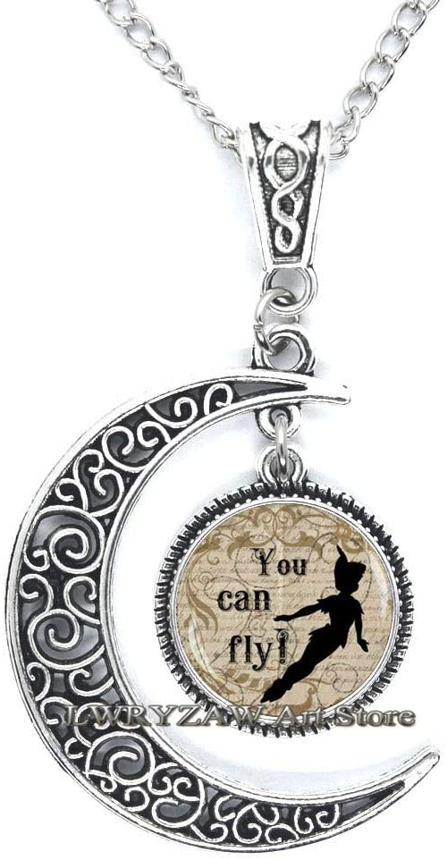 You can Fly Pendant Jewelry,You can Fly Quote,You can Fly Necklace, Fairy Tale Necklace,Simple Necklace,Handmade Necklace,M111