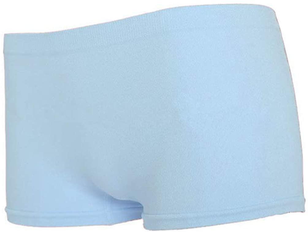 POQOQ Pants New Women Yoga Sports Gym Workout Waistband Skinny Shorts Free Size Blue