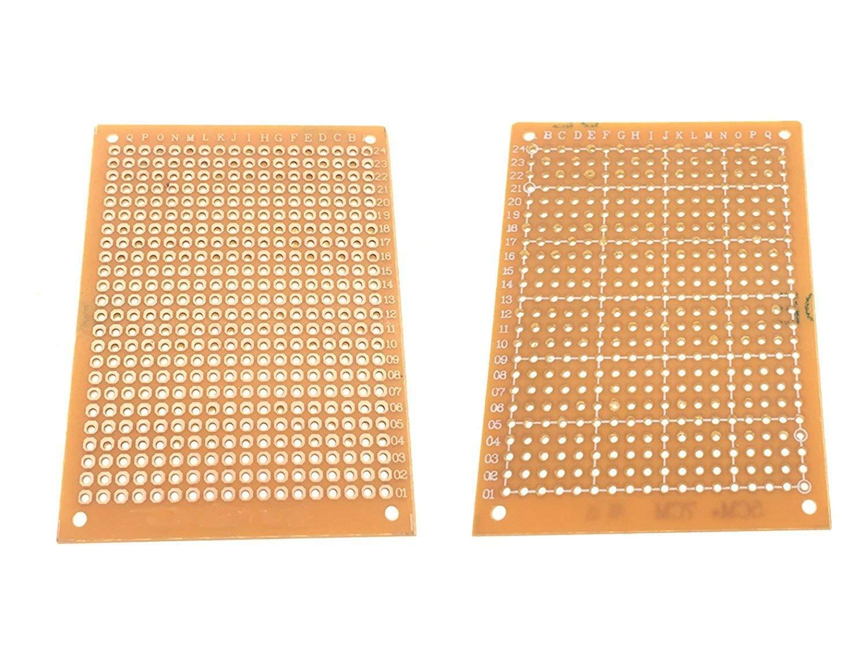 YXQ 18 x 30cm Solder Breadboard PCB Prototype Print Circuit Universal Board with Coordinate for DIY Tool, 2Pcs