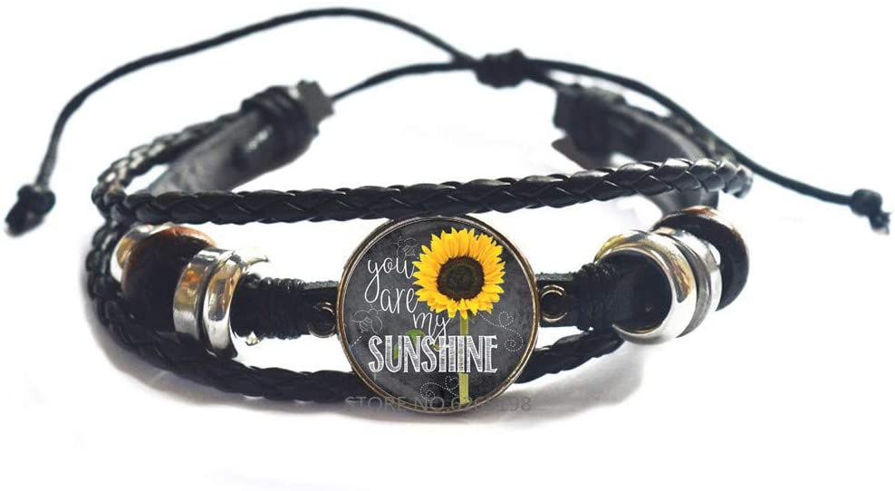 You are My Sunshine Sunflower Bangle Bracelet,Sunshine Bracelet for Daughter,Sunflower Bangle, Bridesmaid, Friend,N171