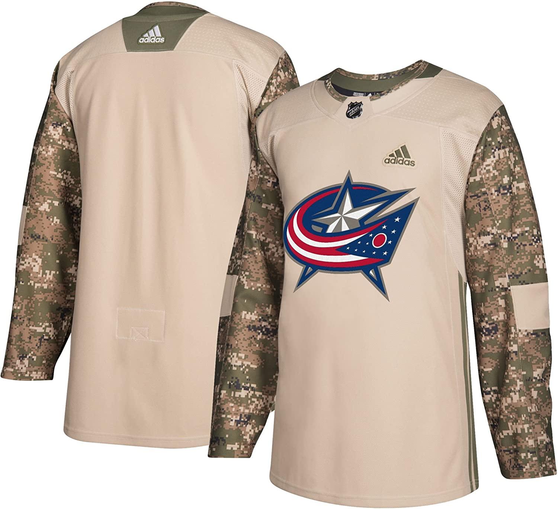 adidas Columbus Blue Jackets NHL Veterans Day Jersey (M/50)