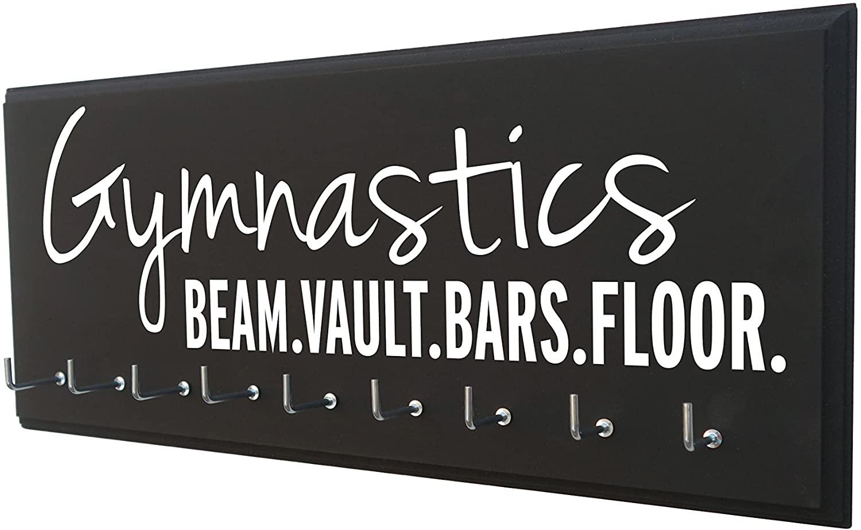 RunningontheWall Gymnastics Equipment, Gymnast Gifts for Girls Gymnastics Beam.Vault.Bars.Floor. Gymnastics Ribbon Holder, Gymnast Ribbon Holder