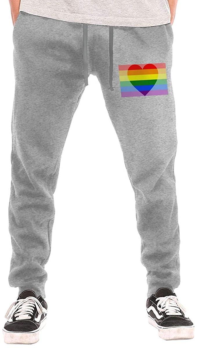Men's Pride Rainbow Casual Sweatpants Black