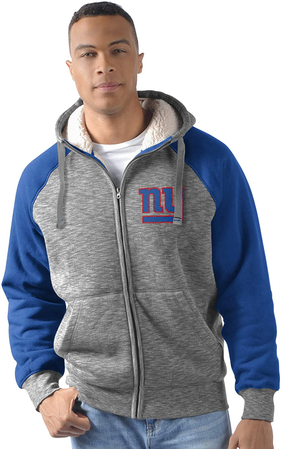 New York Giants Heathered Gray/Royal Turning Point Hooded Jacket by G-II (XXX-LARGE)