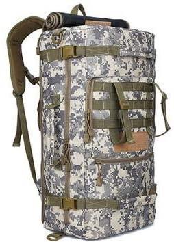 ZhaJunBag 50L Military Tactical Backpack Outdoor Camping Daypack Shoulder Bag Men's Hiking Rucksack Back Pack