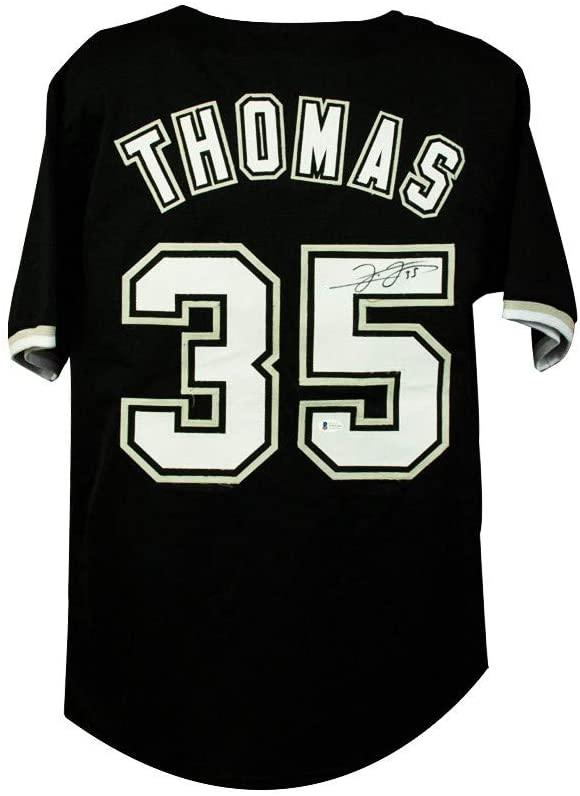 Frank Thomas Autographed Chicago White Sox Custom Black Baseball Jersey - BAS COA