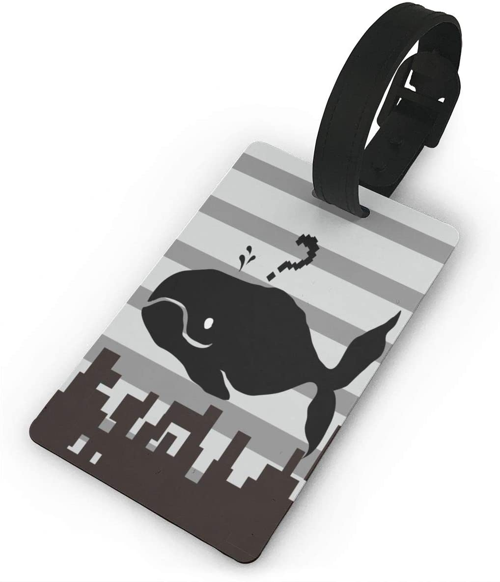 Field Rain Shark Over The Building Fashion Luggage Tag PVC Travel ID Suitcases Label For Bag