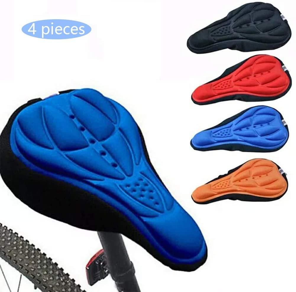 Covers Cycling Bike 3D Gel Pad Seat Saddle Soft Cushion, Mountain Bike Cycling, Bicycle Saddle Random Color