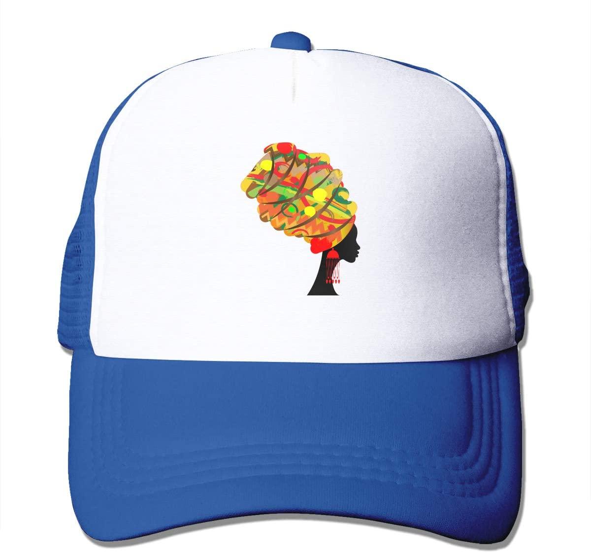 Adult Trucker Hat African Women Custom Mesh Caps