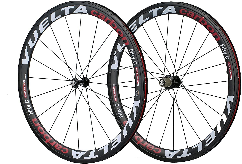 Vuelta Corsa 50T Carbon Tubular Wheel Set (Black)