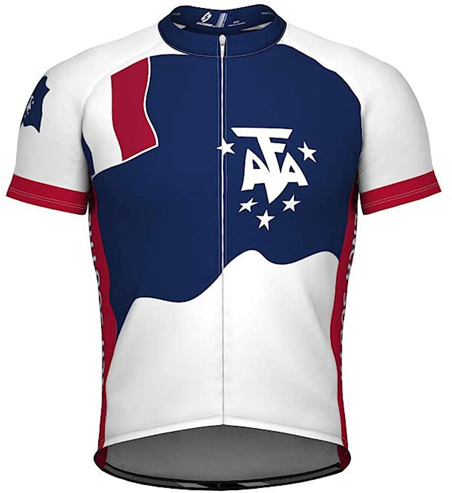 French Southern Emblem Full Zipper Bike Short Sleeve Cycling Jersey for Women