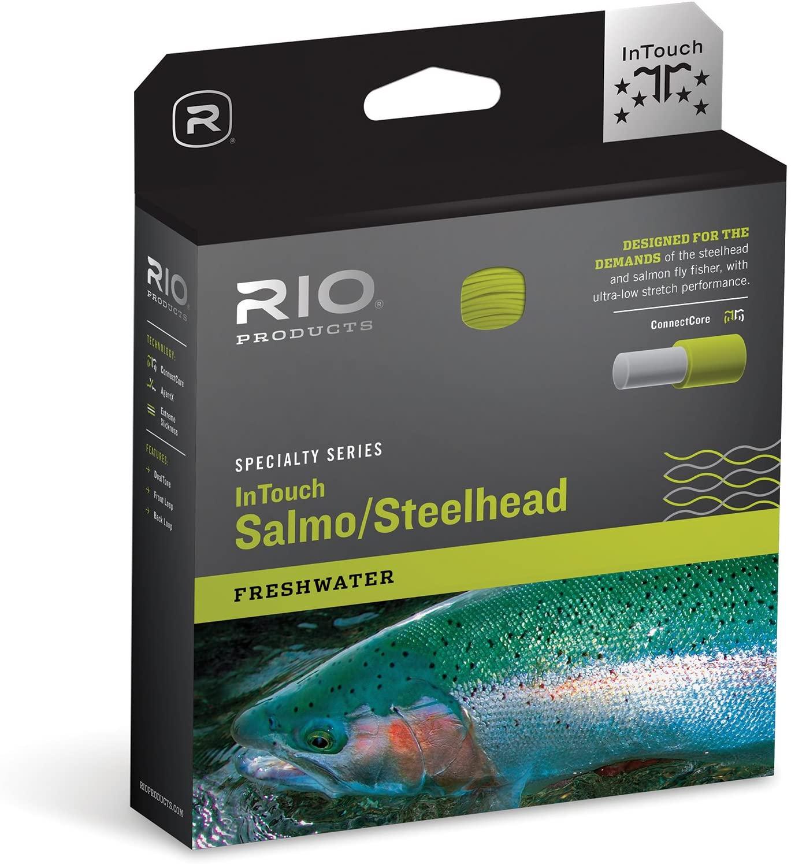 RIO Products Fly Line Intouch Salmo/Steelhead Wf8F Dualtone, Moss/Yellow
