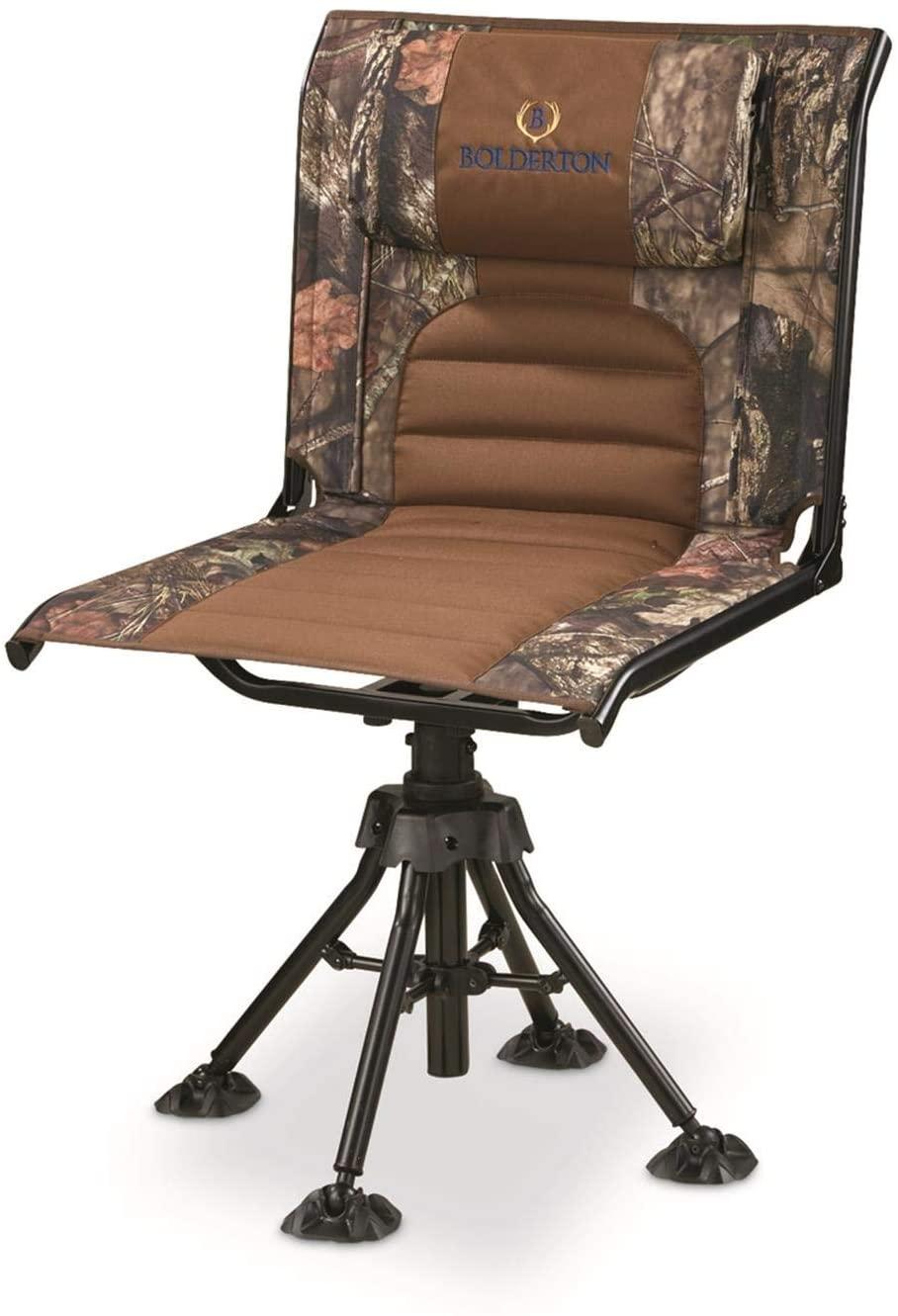 Bolderton 360 Comfort Swivel Camo Hunting Chair, Mossy Oak Break-Up Country