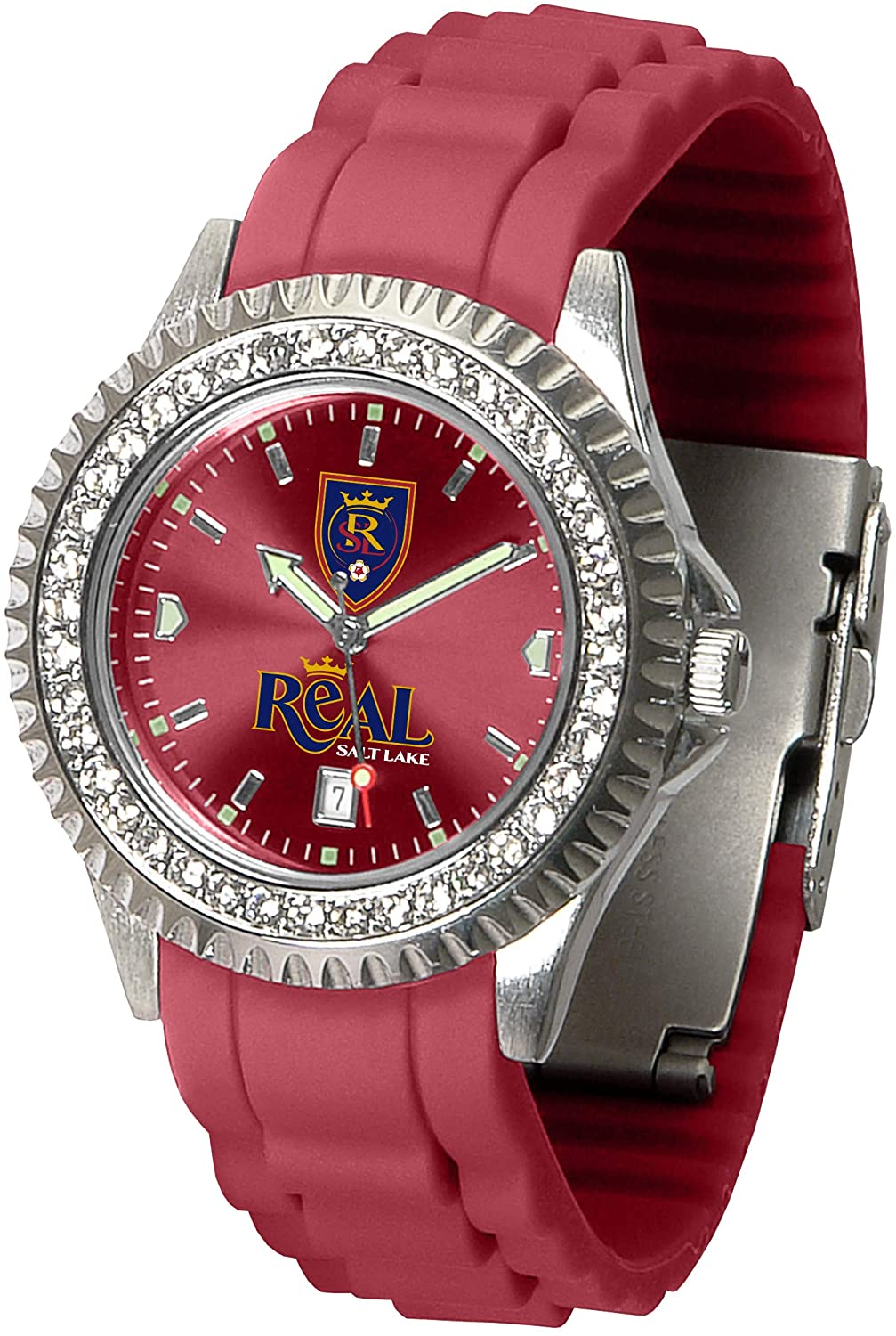 Game Time MLS Real Salt Lake Womens SparkleWrist Watch, Team Color, One Size
