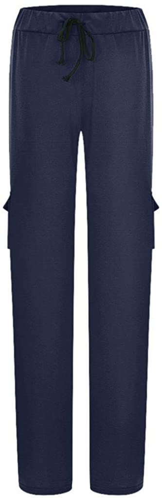 Weiliru Women's Fashion Stretchy Soft Yoga Pants with Pocket Casual Loose Trousers Workout Exercise Leggings