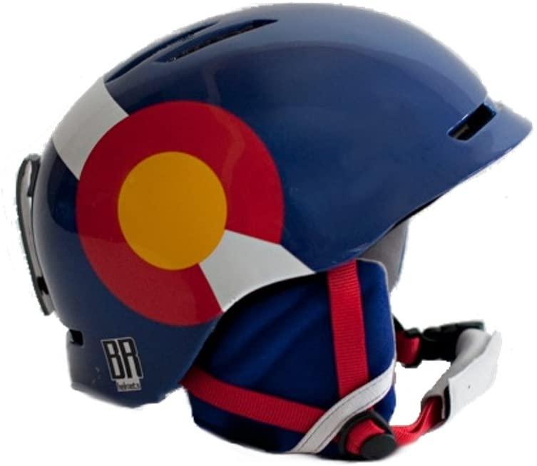 R & B BR Helmets: Colorado Flag Helmet (Large)