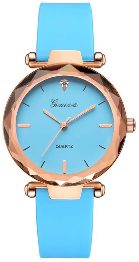 SheShiLs Luxury Women Bracelet Watches Ladies Watches Geneva Silica B Analog Quartz Wrist Watch